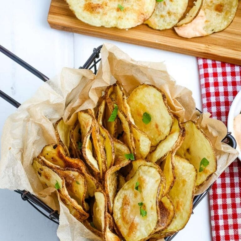 Homemade Potato Chips in the Air Fryer